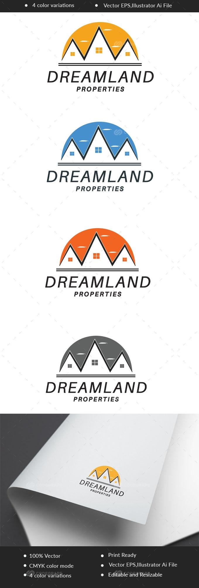 Dreamland Realestate Logo