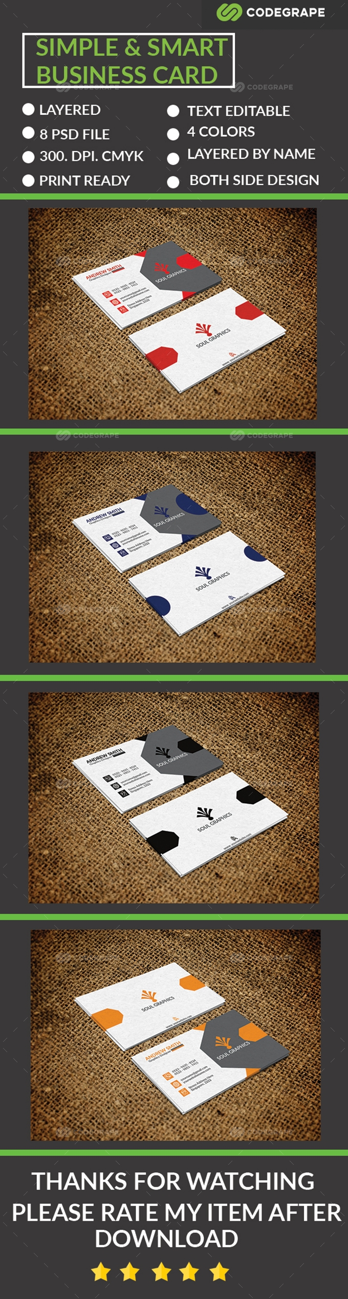 Simple & Smart Business Card