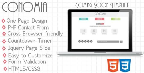 Conomia-HTML5 Coming Soon Template