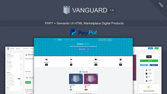 Vanguard - Marketplace Digital Products PHP