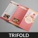 Cake Trifold Menu