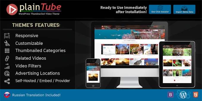 RAWMPlainTube - The Video Tube WordPress Theme