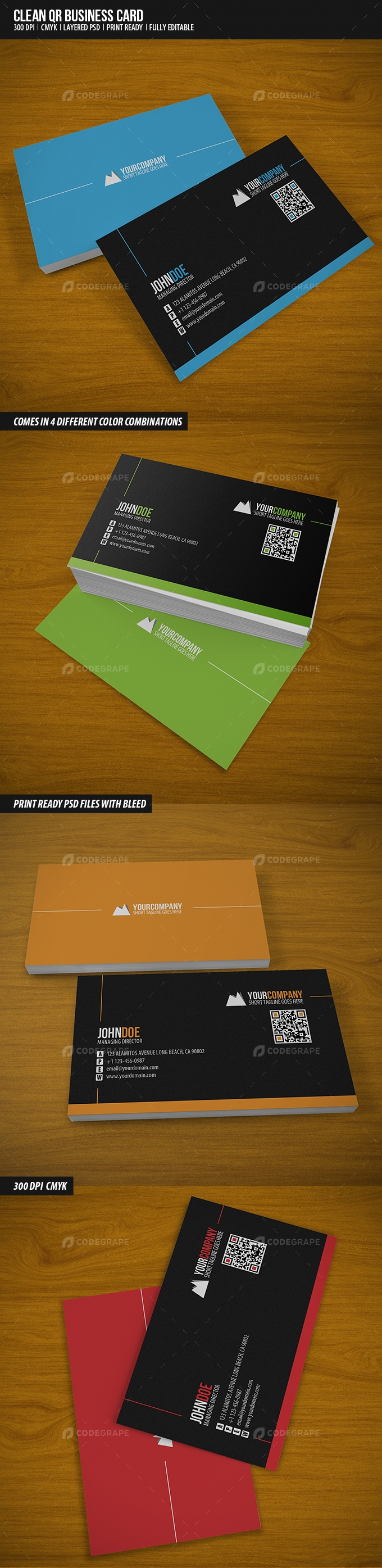 Clean QR Business Card