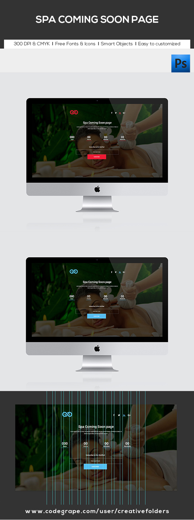 Spa Coming Soon Page PSD Template