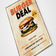 Burger Flyer with Menu