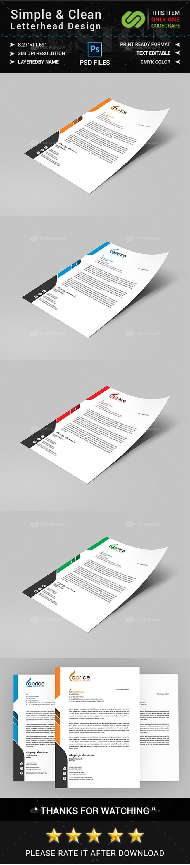 Simple & Clean Letterhead Design