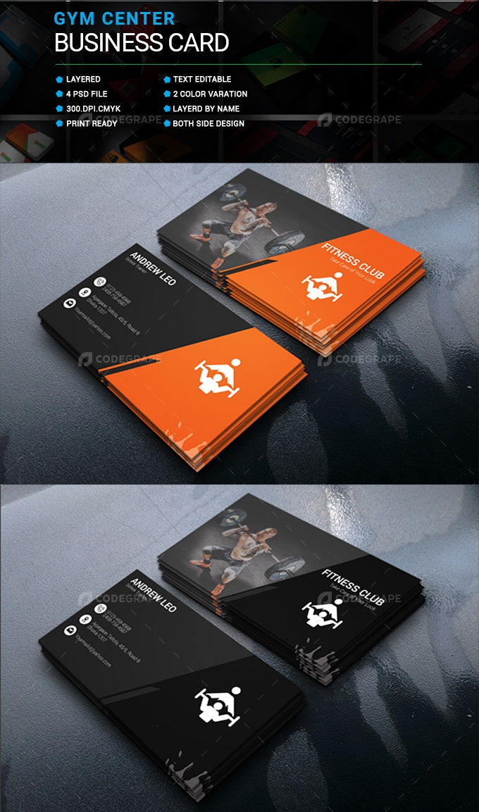 GYM Center Business Card