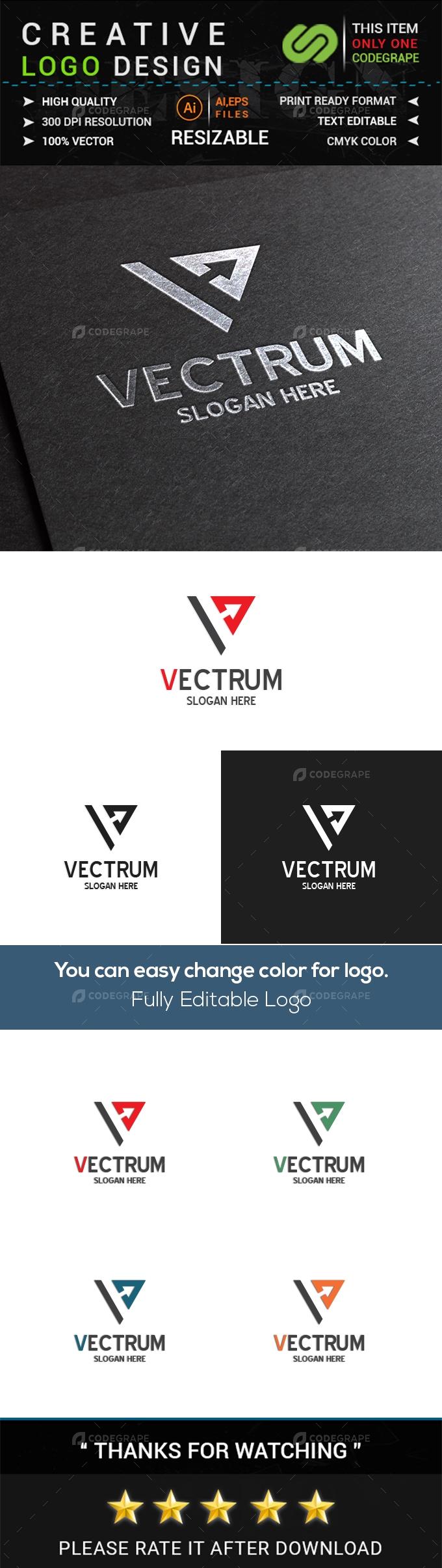 Vectrum Logo Design