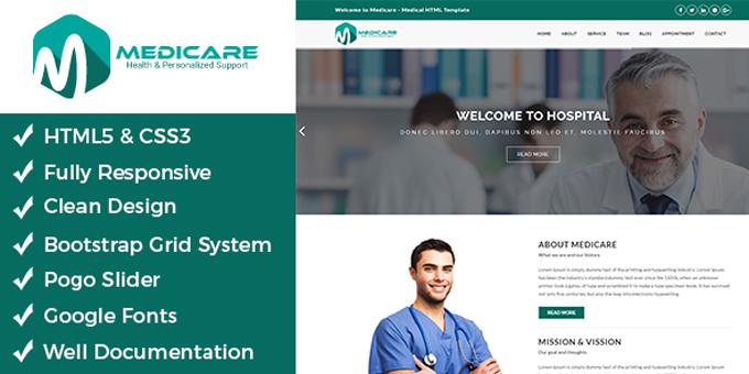 Medicare - Medical Html Template
