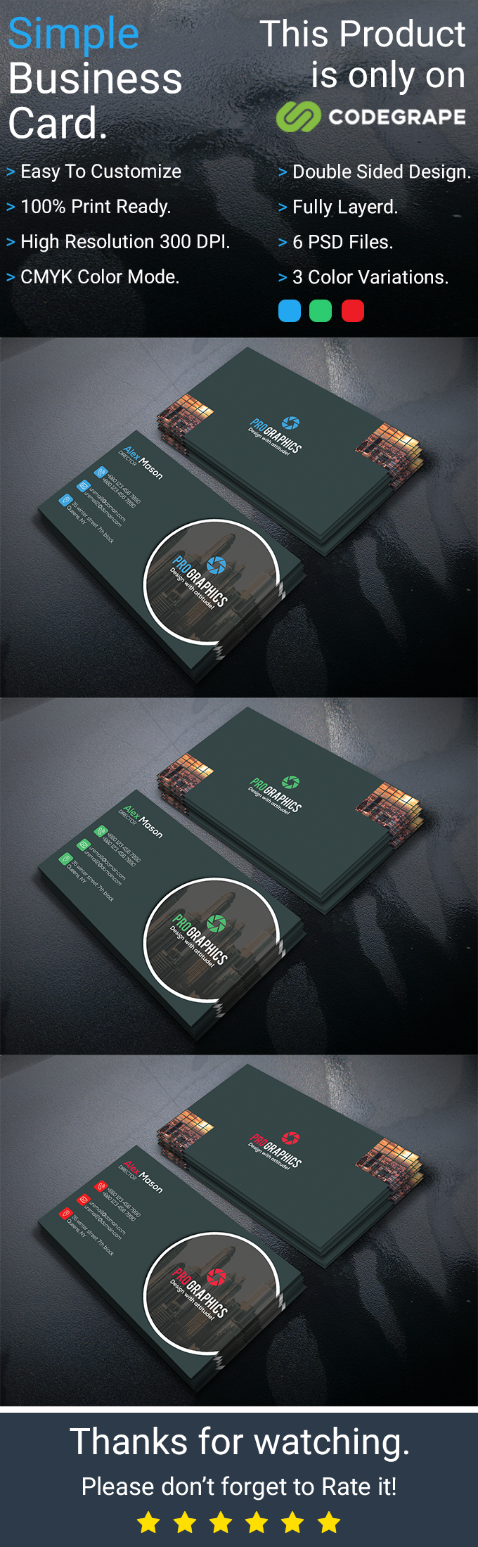 Simple Business Card Vol 7