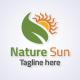 Nature Sun Logo Template