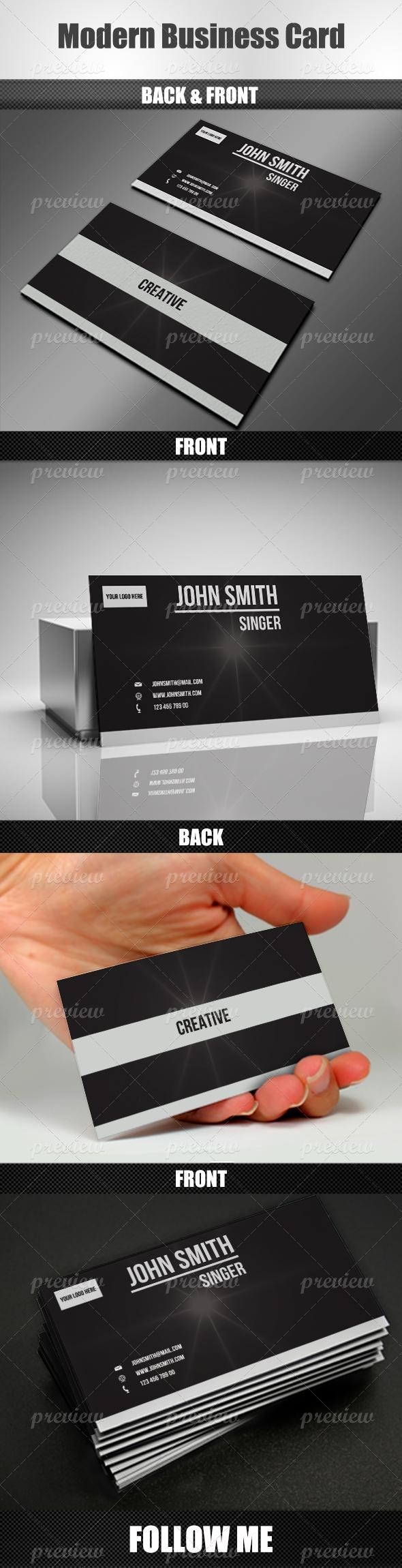 Modern Business Card v2