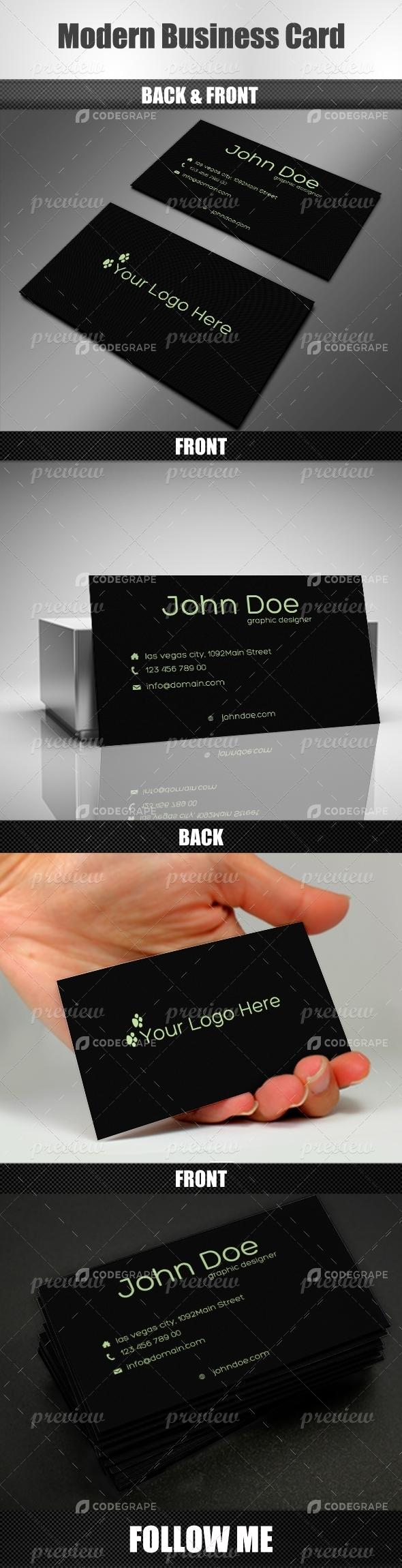 Modern Business Card v3
