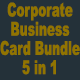 5 in 1 Corporate Business Card Bundle v31