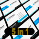 5 in 1 Corporate Business Card Bundle V.15