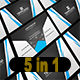 5 in 1 Corporate Business Card Bundle V. 18
