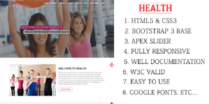 Health - Yoga Html Template