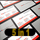 5 in 1 Corporate Business Card Bundle V. 23