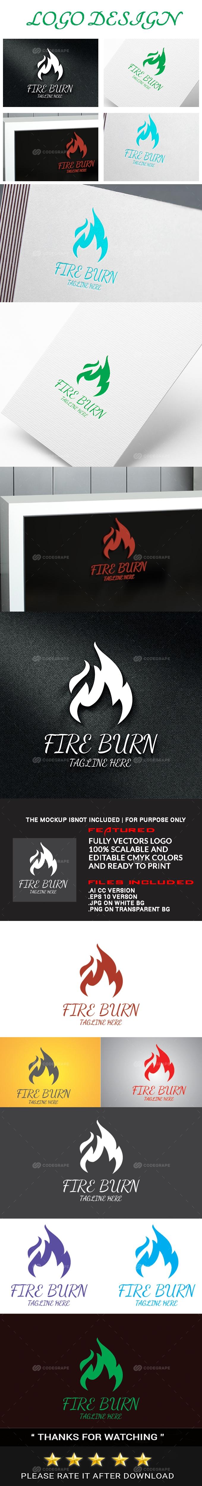 Fire Burn Logo