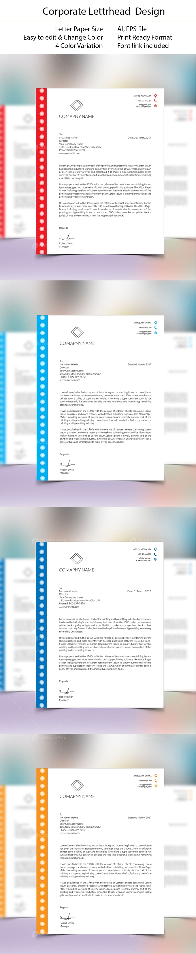 Corporate Letterhead Design Print – Corporate Letterhead