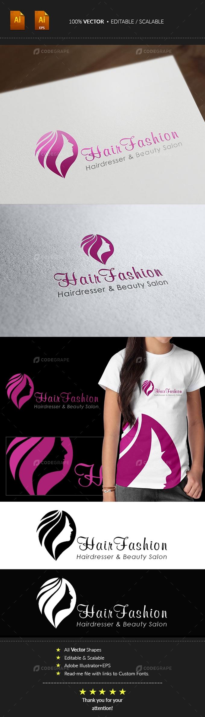 Hair Fashion Logo