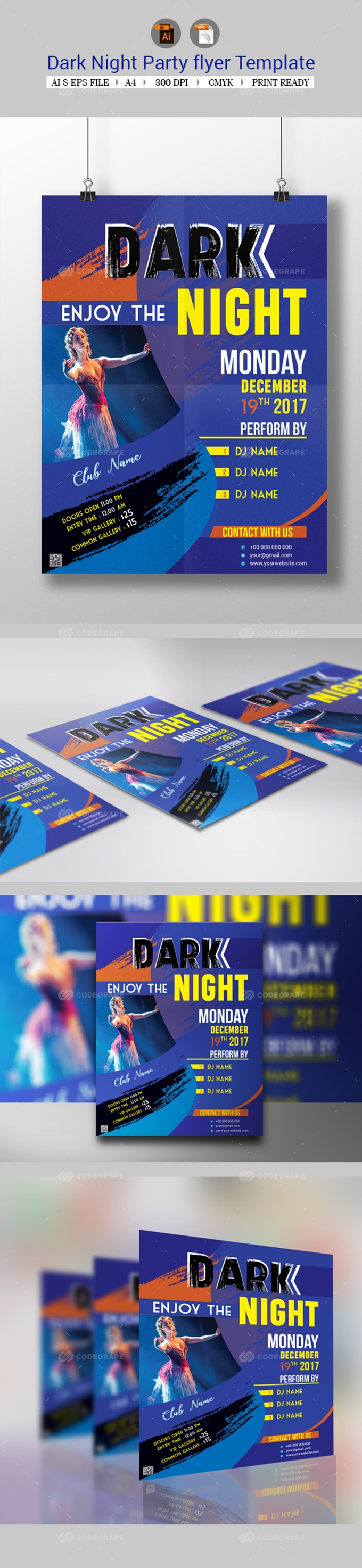 Dark Night Party Flyer