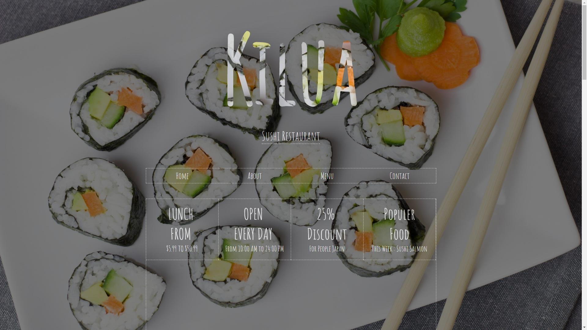Templates Restaurant Sushi