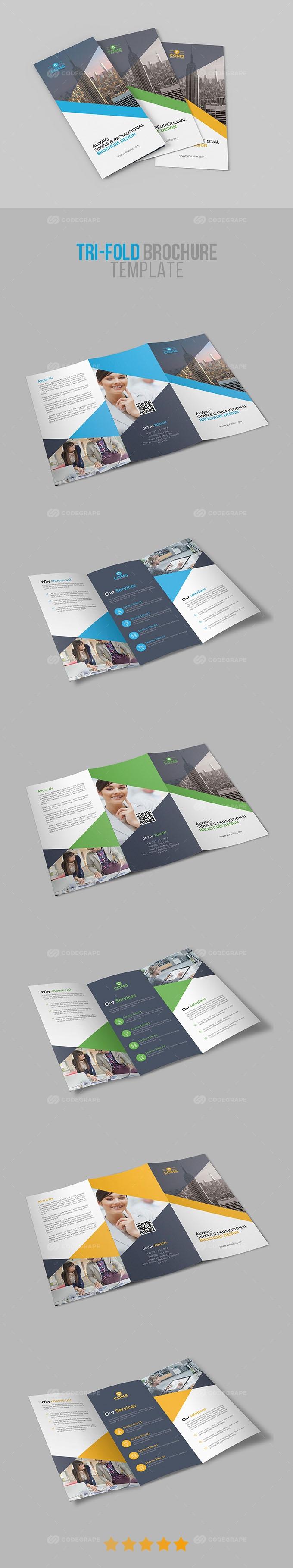 Corporate Tri-Fold Brochure Template 01