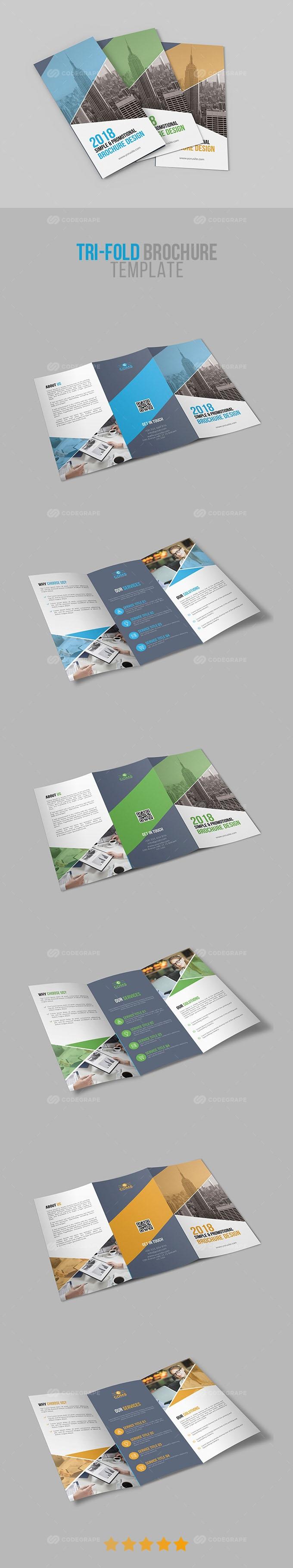 Corporate Tri-Fold Brochure Template 03