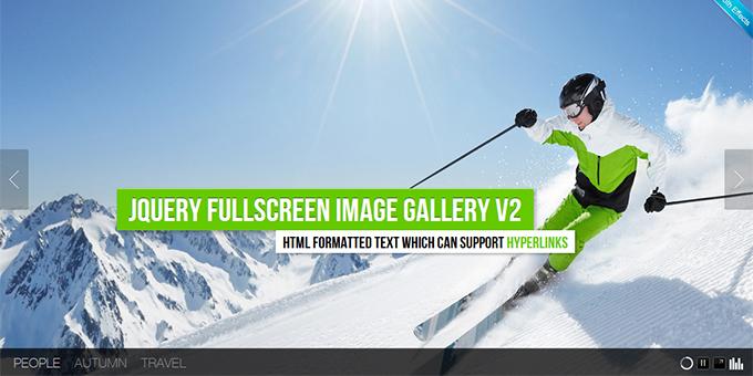 jQuery Fullscreen Image Gallery v2