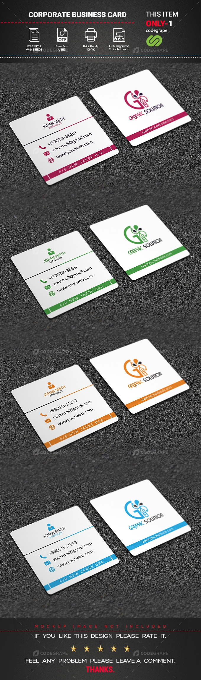 Exclusive Square Business Card