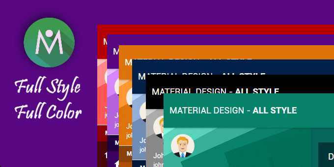 Bootstrap Material Design Special Skin