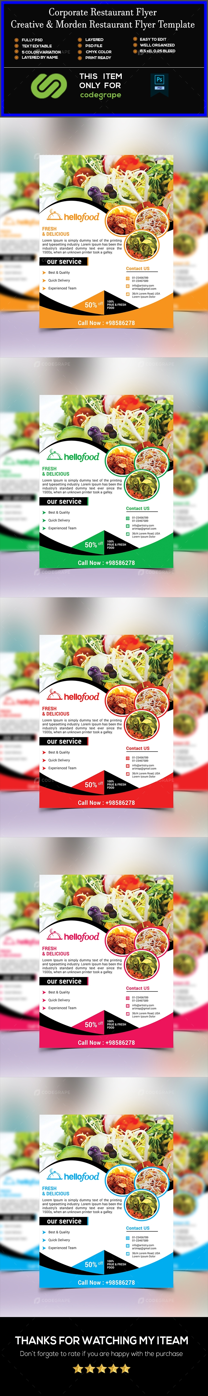 Corporate Restaurant Flyer