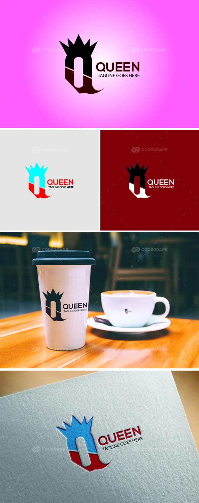 Queen Q Letter Logo