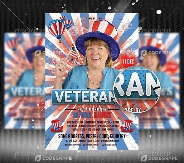 Veterans Day Flyer Template