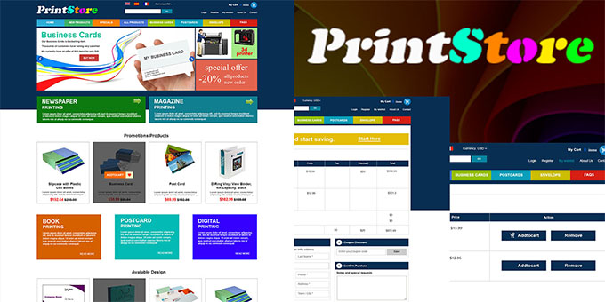 PrintStore - eCommerce PSD Template