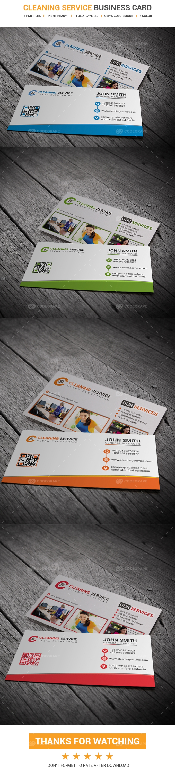 Cleaning service business card print codegrape cleaning service business card magicingreecefo Gallery