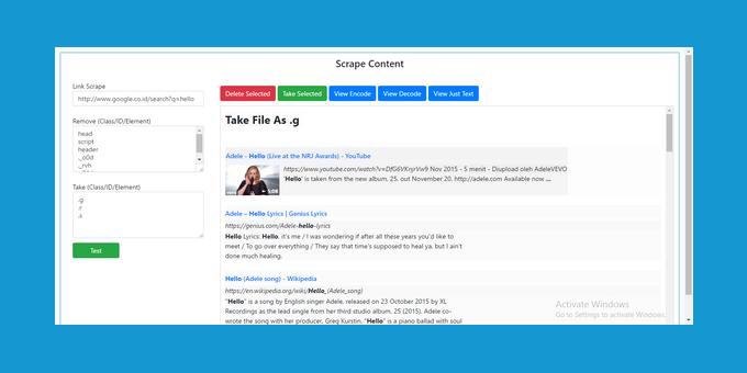 Vacuum Contents Website (Scrape)