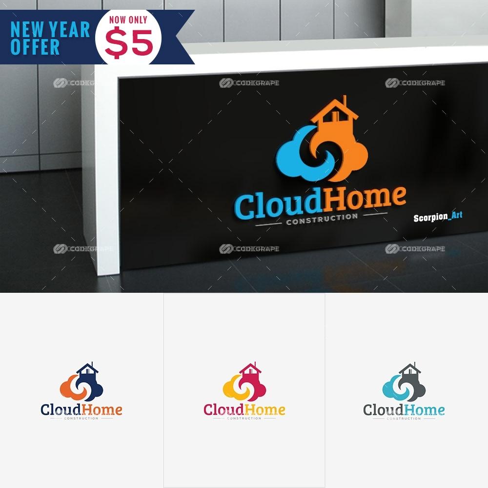 CloudHome Construction Logo