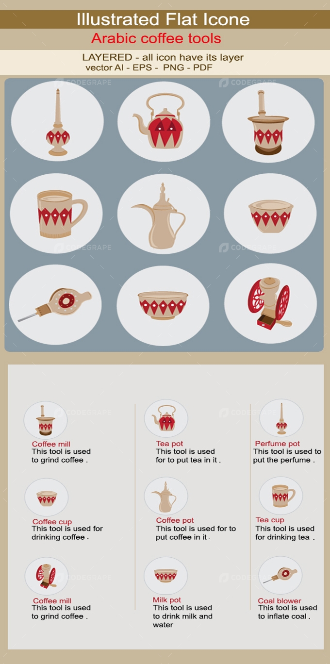 Arabic Coffee Tools