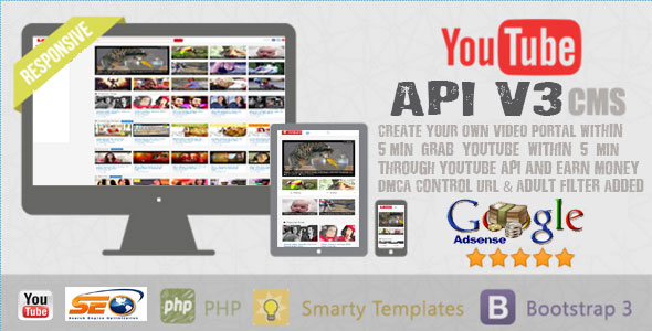 Youtube API V3 CMS