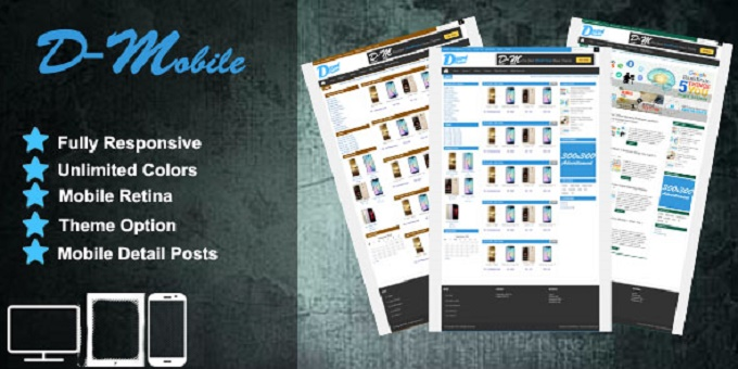 Decent Mobile - Responsive Mobile Wordpress Theme
