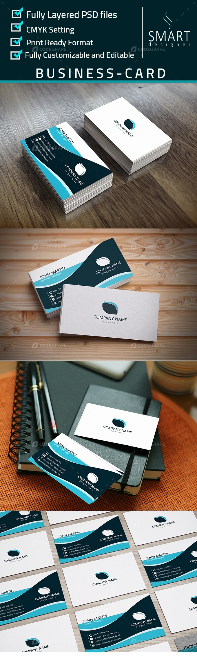 Corporate business card print codegrape corporate business card reheart Images