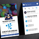 Facebook Theme Creative Business Card