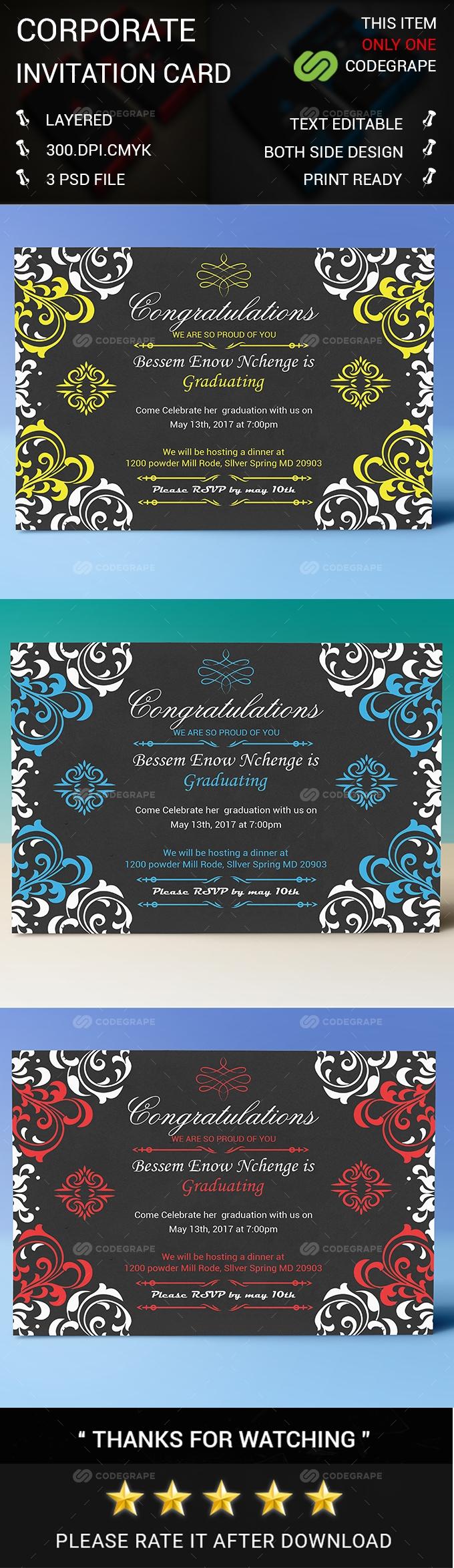 Corporate Invitation Card