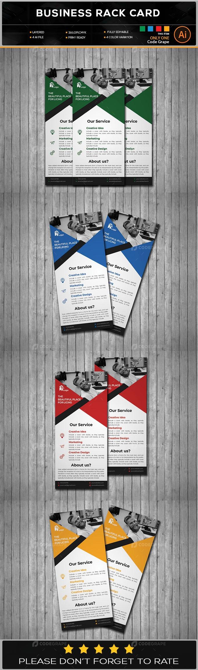 Business Rack Card Design