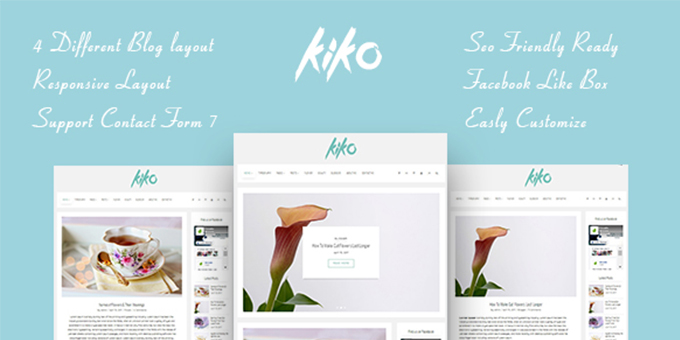 KIKO - Simple and Clean Wordpress Theme