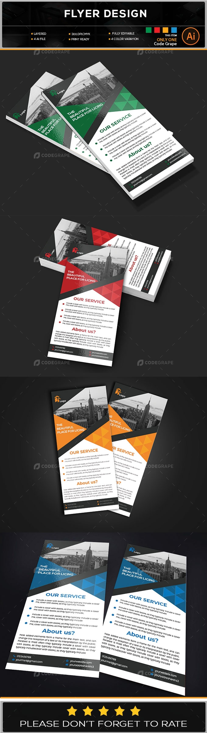 Business Rack Card Design