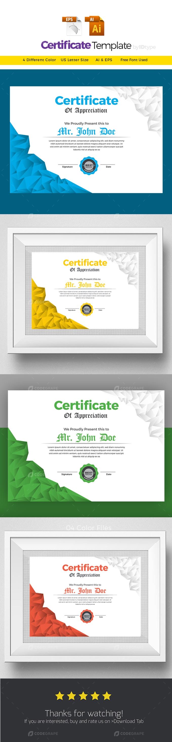 Modern Certificate