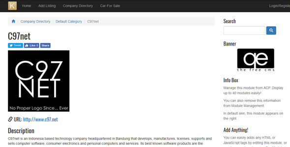 Kemana Directory: PHP Link Indexing & Classfied Ads